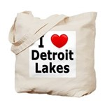I Love Detroit Lakes Tote Bag
