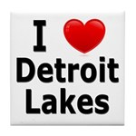 I Love Detroit Lakes Tile Coaster