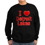 I Love Detroit Lakes Sweatshirt (dark)