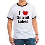 I Love Detroit Lakes Ringer T