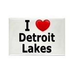 I Love Detroit Lakes Rectangle Magnet (100 pack)