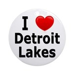 I Love Detroit Lakes Ornament (Round)