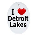I Love Detroit Lakes Ornament (Oval)