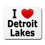 I Love Detroit Lakes Mousepad