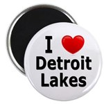 I Love Detroit Lakes Magnet