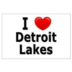 I Love Detroit Lakes Large Poster