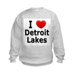 I Love Detroit Lakes Kids Sweatshirt