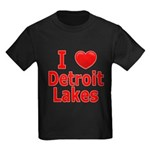 I Love Detroit Lakes Kids Dark T-Shirt