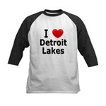 I Love Detroit Lakes Kids Baseball Jersey
