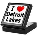 I Love Detroit Lakes Keepsake Box