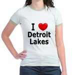 I Love Detroit Lakes Jr. Ringer T-Shirt