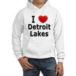 I Love Detroit Lakes Hooded Sweatshirt