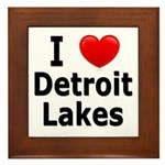 I Love Detroit Lakes Framed Tile