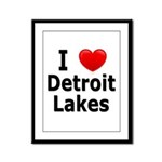 I Love Detroit Lakes Framed Panel Print