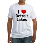 I Love Detroit Lakes Fitted T-Shirt