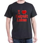 I Love Detroit Lakes Dark T-Shirt