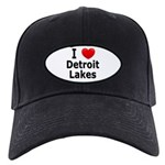 I Love Detroit Lakes Black Cap