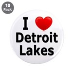 "I Love Detroit Lakes 3.5"" Button (10 pack)"