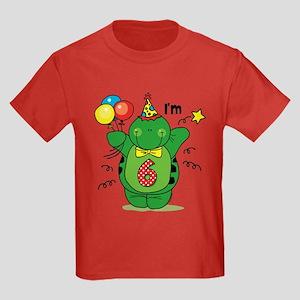 Happy Turtle 6th Birthday Kids Dark T-Shirt