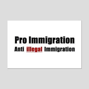 Pro Immigration Anti illegal Mini Poster Print