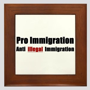 Pro Immigration Anti illegal Framed Tile