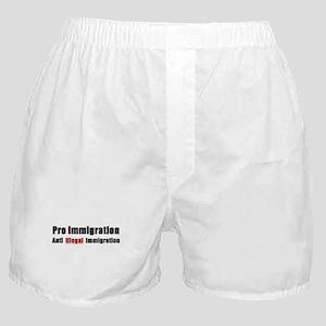 Pro Immigration Anti illegal Boxer Shorts