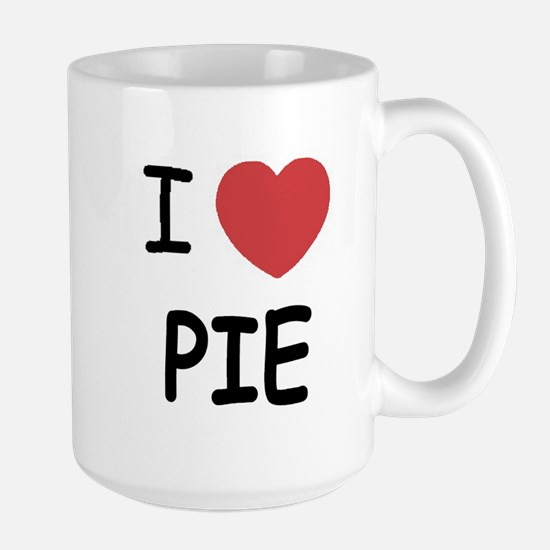 I heart pie Large Mug