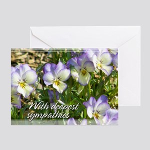 Johnny Jump-Up Pansy Sympathy Card 5x7