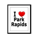 I Love Park Rapids Framed Panel Print
