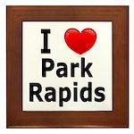 I Love Park Rapids Framed Tile