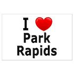 I Love Park Rapids Large Poster