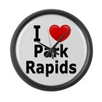 I Love Park Rapids Large Wall Clock