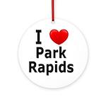 I Love Park Rapids Ornament (Round)