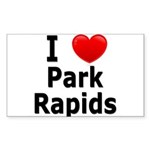 I Love Park Rapids Sticker (Rectangle 10 pk)