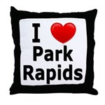 I Love Park Rapids Throw Pillow