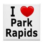 I Love Park Rapids Tile Coaster