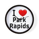 I Love Park Rapids Wall Clock