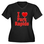 I Love Park Rapids Women's Plus Size V-Neck Dark T