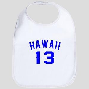 Hawaii 13 Birthday Designs Cotton Baby Bib