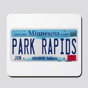 Park Rapids License Plate Mousepad