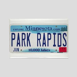 Park Rapids License Plate Rectangle Magnet