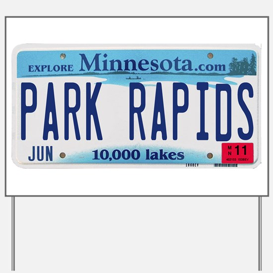 Park Rapids License Plate Yard Sign
