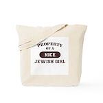 Property of Jewish Girl Tote Bag