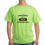 Property of Jewish Girl Green T-Shirt