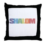 Shalom Colored Throw Pillow