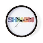 Shalom Colored Wall Clock