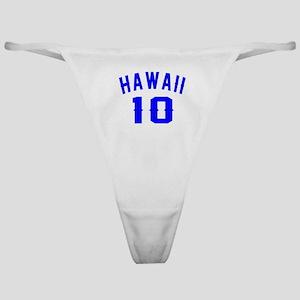 Hawaii 10 Birthday Designs Classic Thong