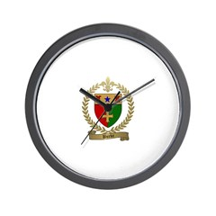 BURKE Family Crest Wall Clock