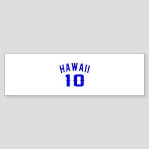 Hawaii 10 Birthday Designs Sticker (Bumper)
