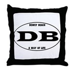 Dewey Beach Throw Pillow